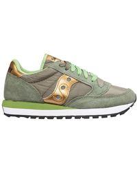 Saucony Women's Shoes Suede Trainers Sneakers Jazz O - Groen