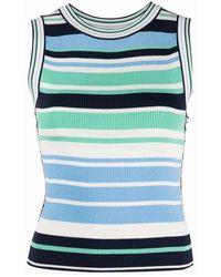 Karl Lagerfeld Striped Knit Top - Blauw