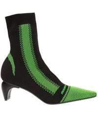MISBHV 'active Square' Heeled Sock Ankle Boots - Groen