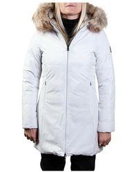 Refrigue SYN ECO FUR R69428Hyv2W Cappott - Weiß