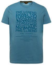 PME LEGEND T-shirt Single Jersey - Blauw