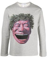 Comme des Garçons Sweatshirt Met Logo - Grijs