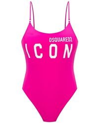 DSquared² One-piece Swimsuit With Logo - Roze