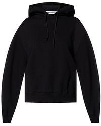 T By Alexander Wang Logo-printed hoodie - Nero