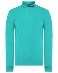 Raf Simons Turtleneck sweater with logo - Azul