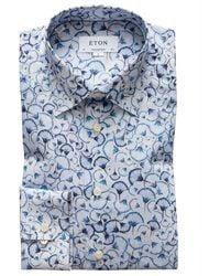 Eton Contemporary Fit Overhemd - Blauw
