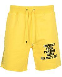 Helmut Lang Shorts L01dm202f - Geel