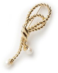 Givenchy Vintage Sailor Knot And Pearl Brooche - Oranje
