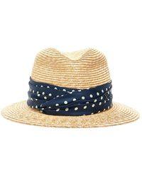 Maison Michel Bobbie Straw Hat - Naturel