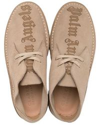 Palm Angels Logo Desert Boots - Naturel