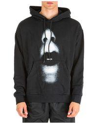 Marcelo Burlon Men's Hoodie Sweatshirt Sweat Mouth Over - Zwart