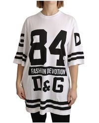 Dolce & Gabbana Oversize Fashion Devotion T-shirt - Bianco
