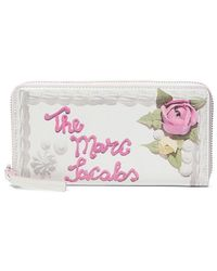 Marc Jacobs Continental Wallet Standard - Wit