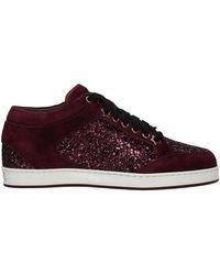 Jimmy Choo Sneakers Glitter - Rood
