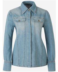Victoria Beckham Denim Overshirt - Blauw
