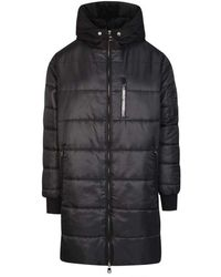 Dolce & Gabbana Hooded Down Coat - Nero