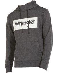 Wrangler Logo Hoodie Sweater Gris