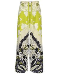 Valentino Floral-print Trousers - Groen