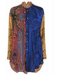 Etro Camicia multicolor - Blau