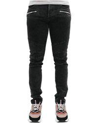 Balmain Ribbed Slim Jeans - Zwart