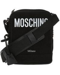 Moschino Shoulder Bag With Printed Logo - Zwart