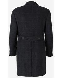 Canali Cashmere Cross coat Azul