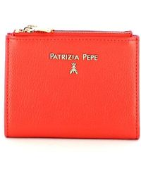 Patrizia Pepe Small leather wallet - Rouge