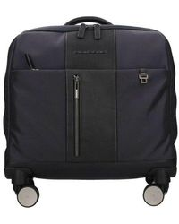 Piquadro Cartella trolley porta PC Brief 15.0 - Blau