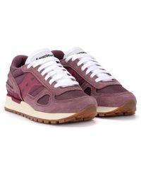 Saucony Shadow Original W Vintage Sneakers - Paars