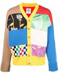 Opening Ceremony Patchwork Dropped Cardigan - Gelb