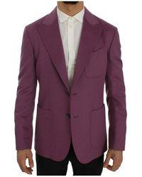 Dolce & Gabbana Cashmere Slim Fit Blazer - Paars