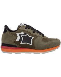 Atlantic Stars Men's Shoes Suede Trainers Sneakers Antares - Groen