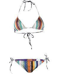 Missoni - Metallic Striped Bikini - Lyst