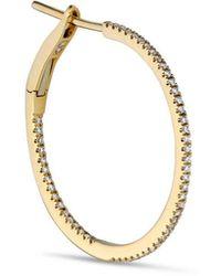 Jane Kønig Small Diamond Hoop Earring - Geel