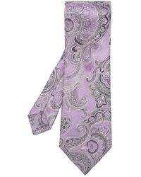 Etro Patterned Tie - Paars