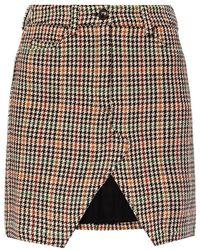 Zadig & Voltaire Houndstooth Check Skirt - Grijs