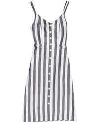 Superdry Eden Linen Dress - Blauw