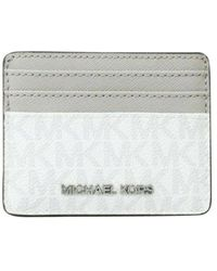 Michael Kors Jet Set Travel Signature Logo Large Card Holder - Grijs