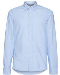 Calvin Klein Overhemd Micro Dobby Slim - Blauw