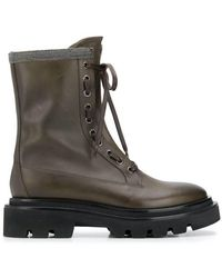 Fabiana Filippi Lace-up combat boots - Verde