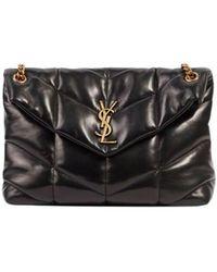 Saint Laurent Puffer Medium Bag - Zwart