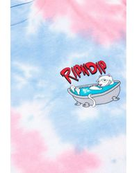 RIPNDIP Camiseta TYE DIE Bath Time Azul