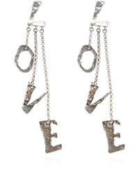 Acne Studios Earrings with charms - Gris