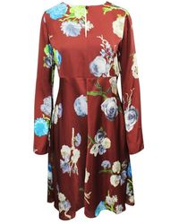 Acne Studios Floral Long Sleeve Dress - Rood