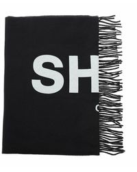 Comme des Garçons Logo Print Scarf - Noir