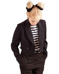 Comme des Garçons Short Jacket With One Button - Zwart