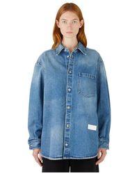 MM6 by Maison Martin Margiela Oversized Denim Shirt - Blauw