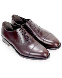 Moreschi NEW York Oxford Lace UP Shoe Marrón