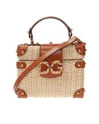 Dolce & Gabbana Logo Shoulder Bag - Naturel