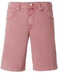 Jacob Cohen Denim Bermuda Shorts - Roze